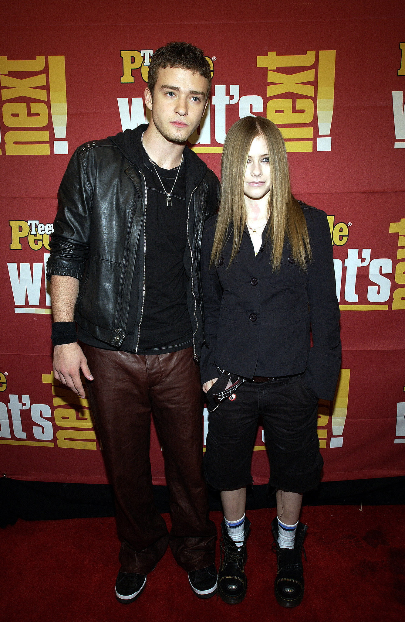 Avril Lavigne and Justin were on hand for a November 2002
