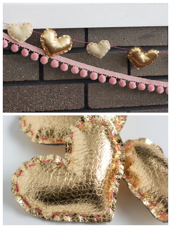 Heart of Gold Valentine's Garland