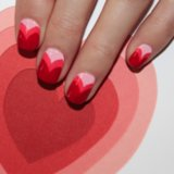 Valentine's Day Heart Nail Art by Jin Soon