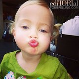 Hattie McDermott puckered up for her mom Tori Spelling's camera. Source: Instagram user torianddean