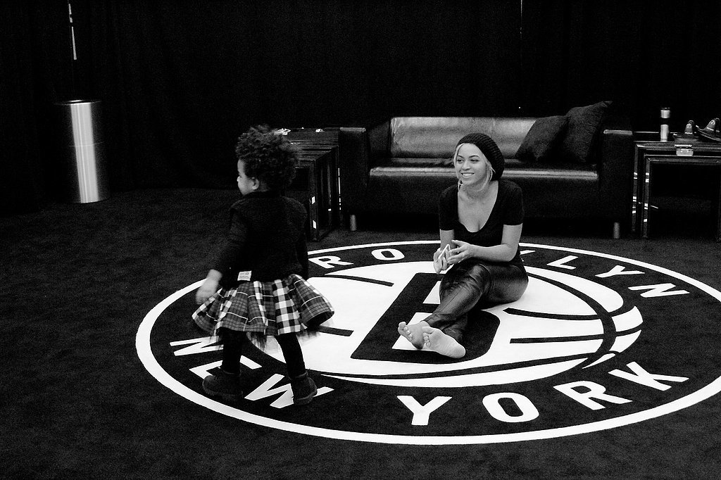 Blue Ivy lived it up at the Brooklyn Nets arena in NYC with her mom, Beyoncé. Source: I Am Beyoncé