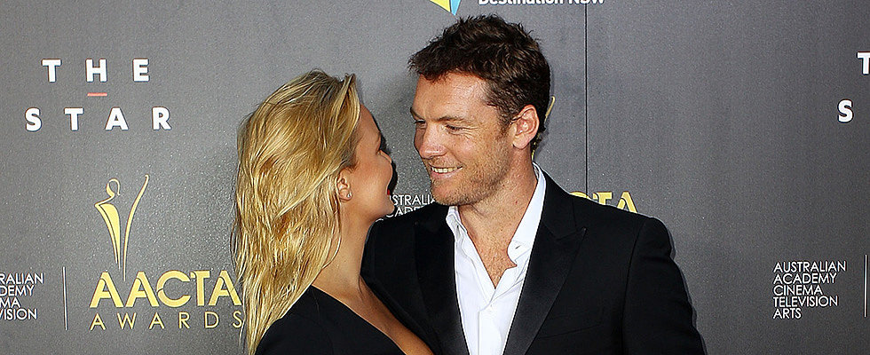 Oops! Sam Worthington Took a Little Tumble on the AACTA Awards Stage