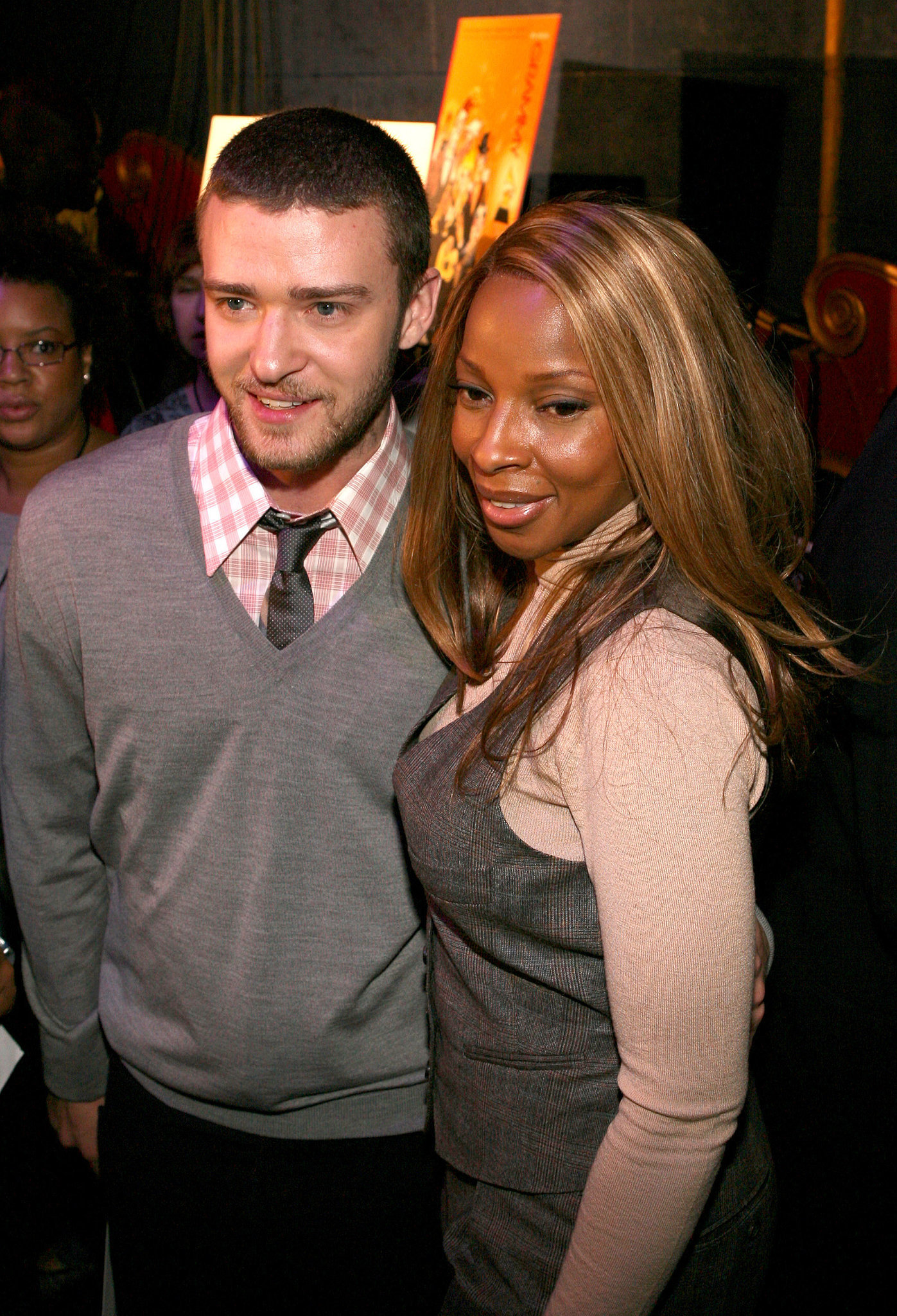 Justin and Mary J. Blige practically matched outfits at the Grammy Awards nominations in 2008.
