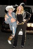 At Miley Cyrus's MTV Unplugged taping, she and Madonna not only performed together but posed for many photos.