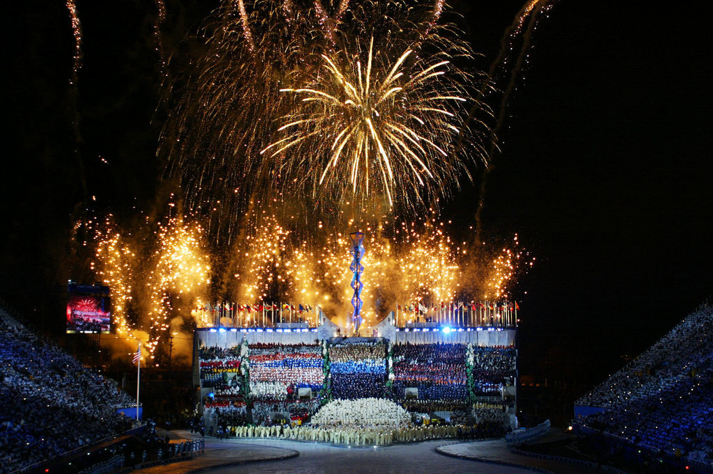 To be fair, Salt Lake City showed off some crazy fireworks in 2002, too.
