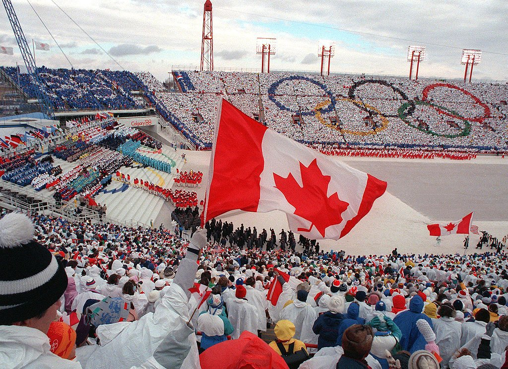 Calgary, Alberta, Canada, got extra festive in their ponchos in 1988.