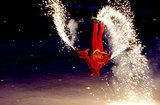 There were also fiery skaters doing flips.