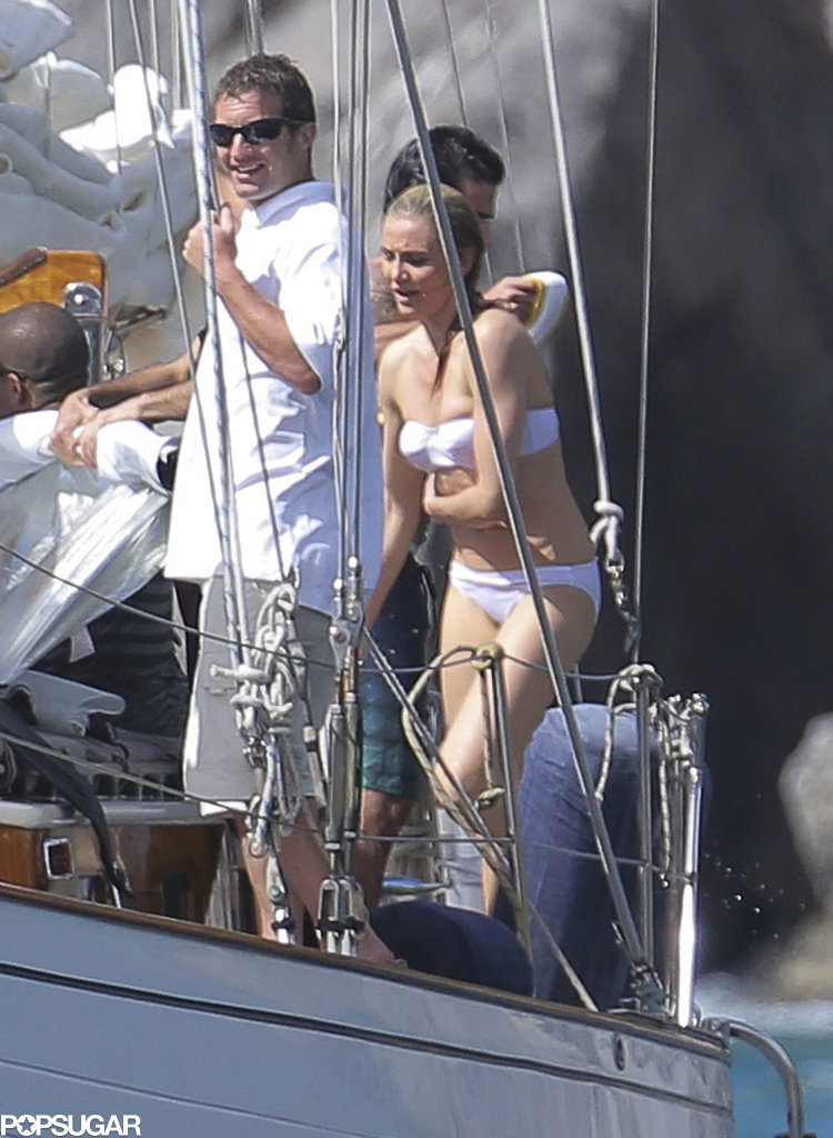 Cameron Diaz Takes the Plunge in a Tiny White Bikini