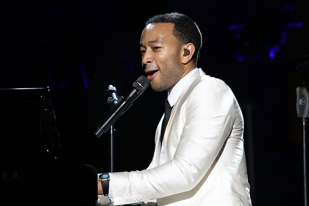 John Legend performed at the Shape and Men's Fitness party.