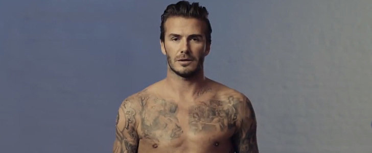 David Beckham Gets Naked For H&M's Super Bowl Ad