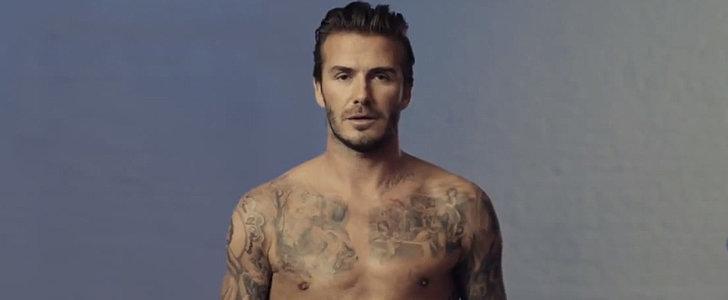 David Beckham Gets Naked For H&M's Super Bowl Ad