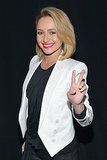 Hayden Panettiere flashed a peace sign at the Revolt party.