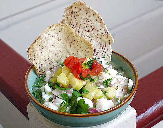 Hawaiian Ceviche With Pineapple