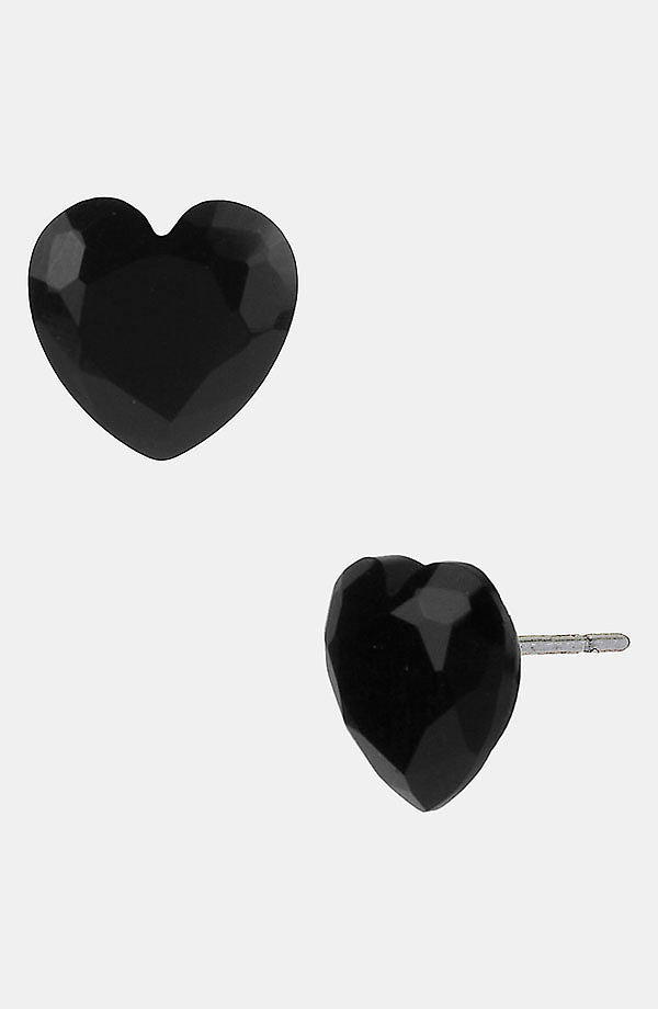 A hardened heart can be a beautiful thing, as these black heart earrings ($25) prove.