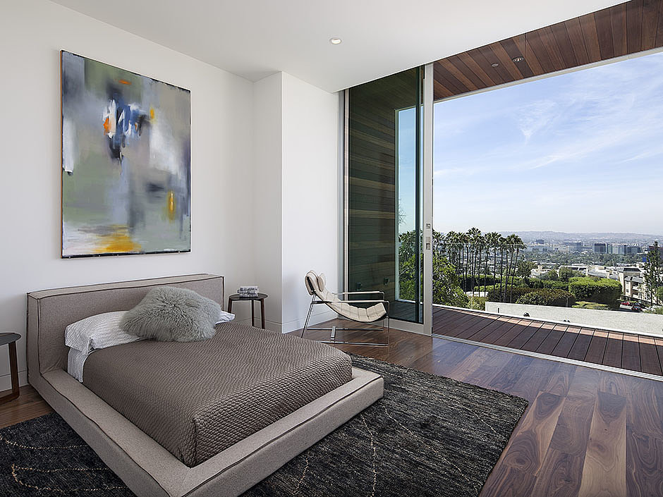 All of the bedrooms offer two amazing perks — incredible views and private balconies! Source: The Agency