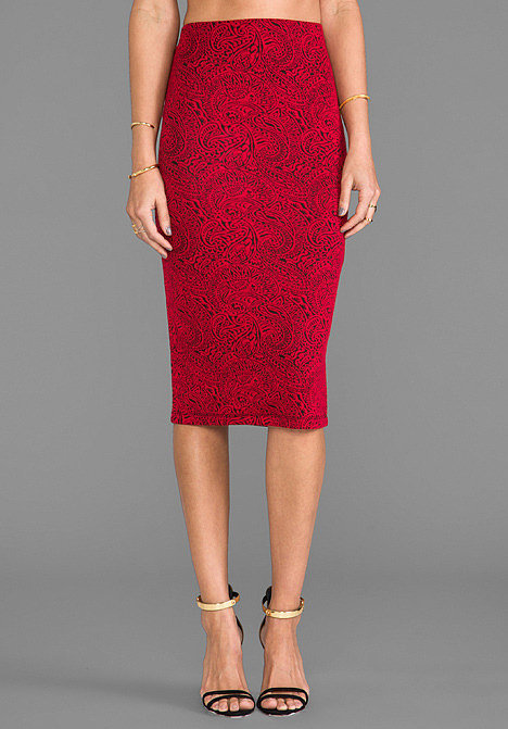 BB Dakota Red Pencil Skirt