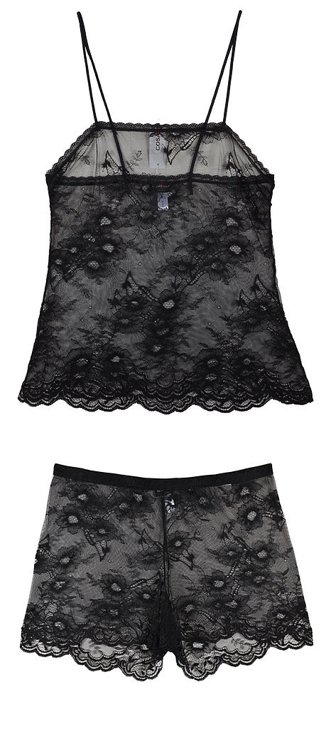 Cosabella Black Lace Tank and Boxers Set