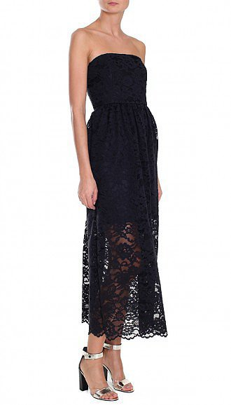 Tibi Lace Strapless Dress