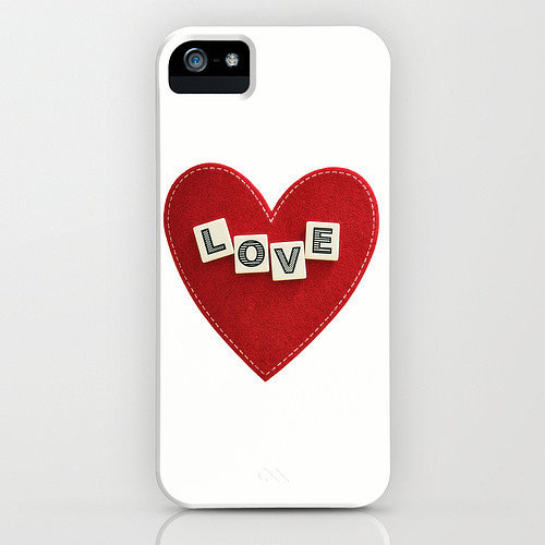 Heart love case ($35) for iPhone models and Samsung Galaxy S4
