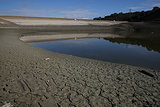 Cupertino's Stevens Creek Reservoir has dangerously low water levels.