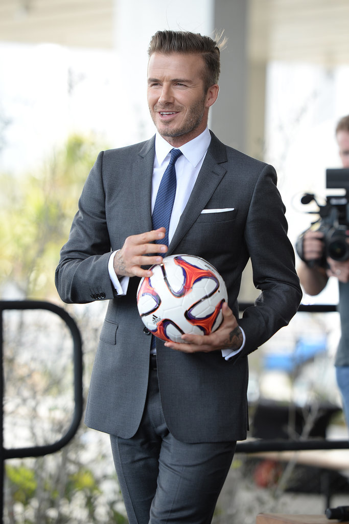 David Beckham Is Living His Dream While His Looks Fulfill Ours