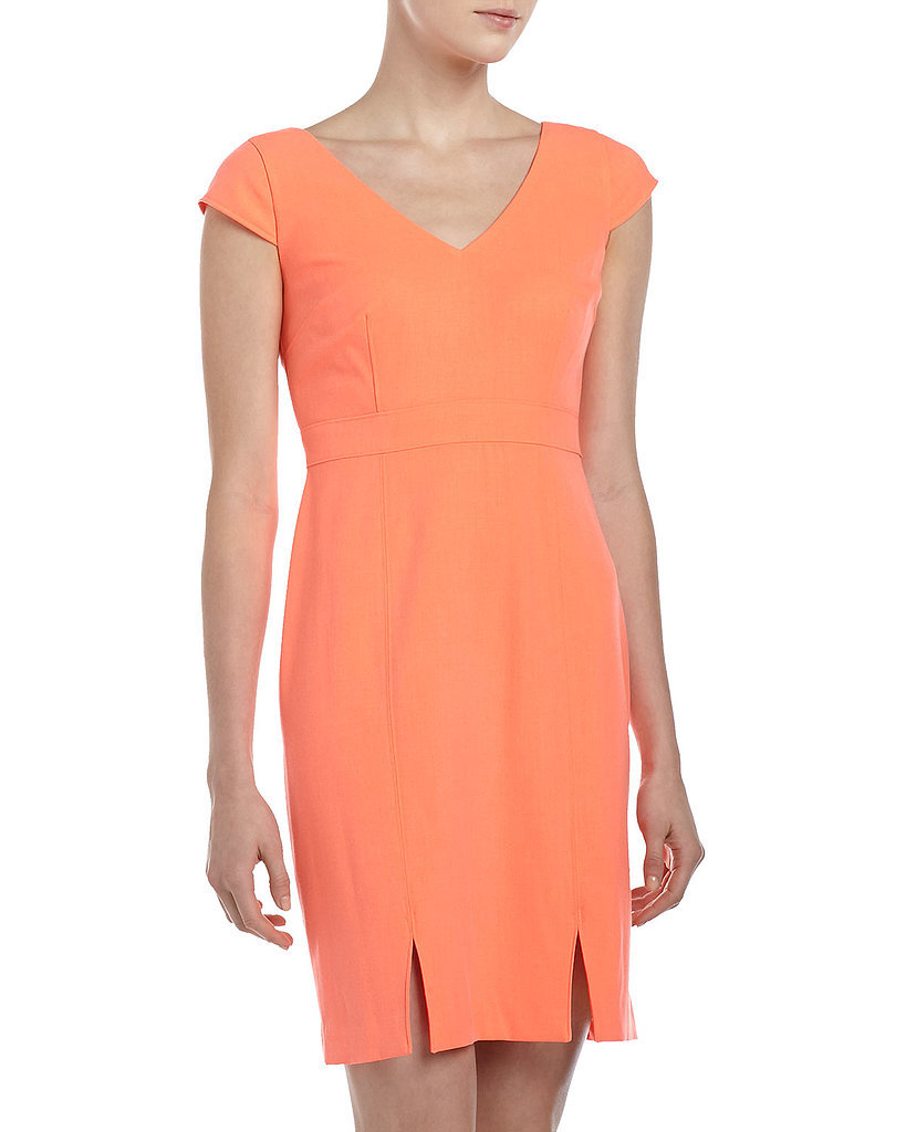 Marc New York by Andrew Marc V-Neck Orange Dress ($95)