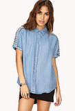 Forever 21 Spiked Chambray Shirt ($35)