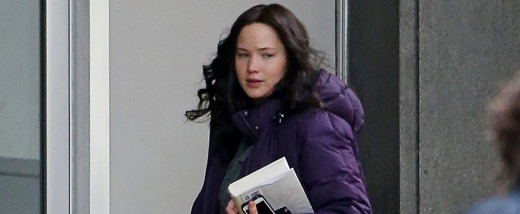 Jennifer Lawrence Gets Back to the Hunger Games Set