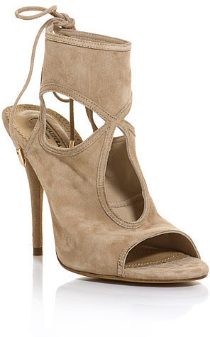 Aquazzura Sexy Thing Suede Cutout Sandal ($565)