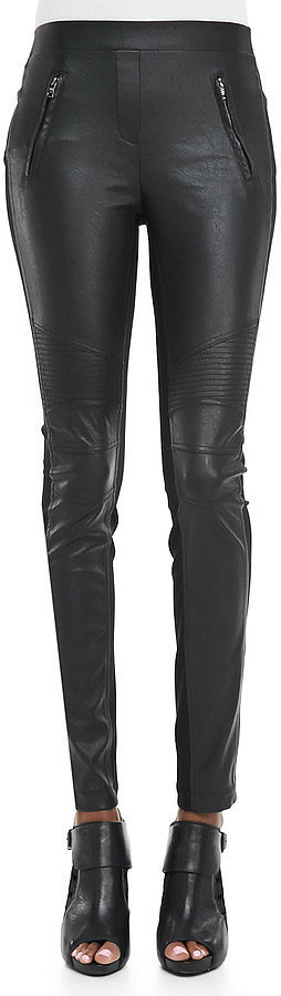 BCBG Max Azria Faux-Leather/Ponte Leggings ($158)