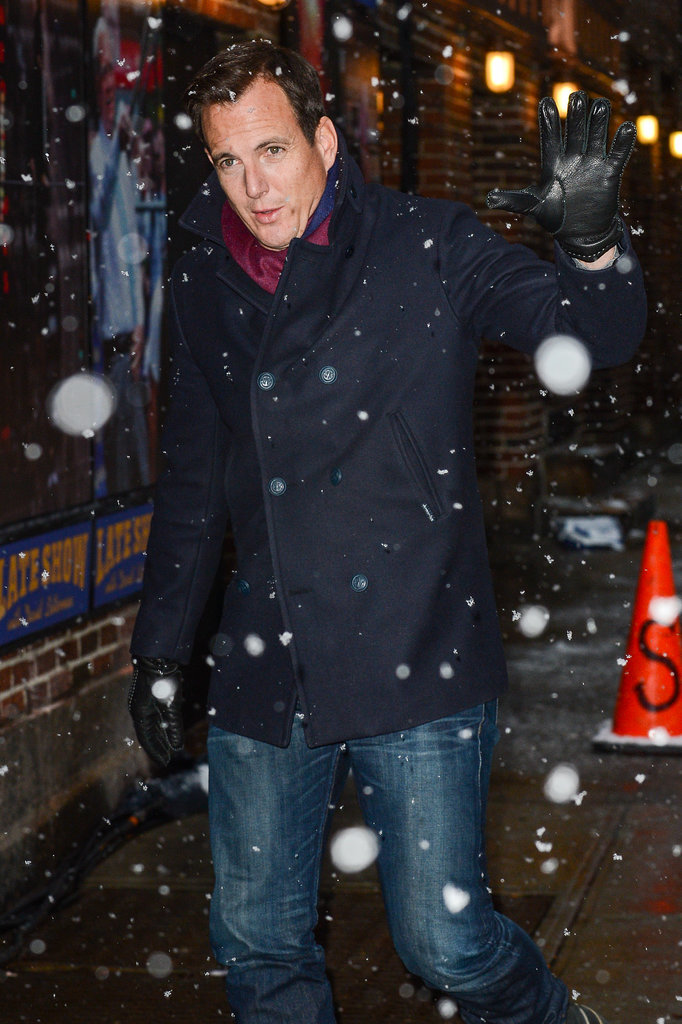 Will Arnett didn't let a snowstorm stop him from visiting The Late Show on Monday.