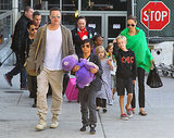 Angelina Jolie and Brad Pitt landed in LA on Wednesday after wrapping up Angie and the kids' extended stay in Australia.