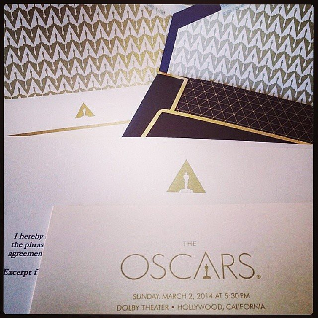 Lupita Nyong'o gave us a glimpse of her gorgeous invitation to the Oscars. Source: Instagram user lupitanyongo