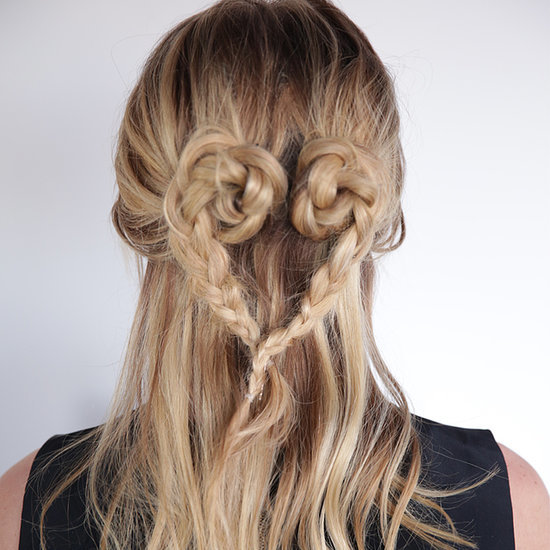 A Gorgeous Heart-Shaped Plait (In Only 5 Minutes!)
