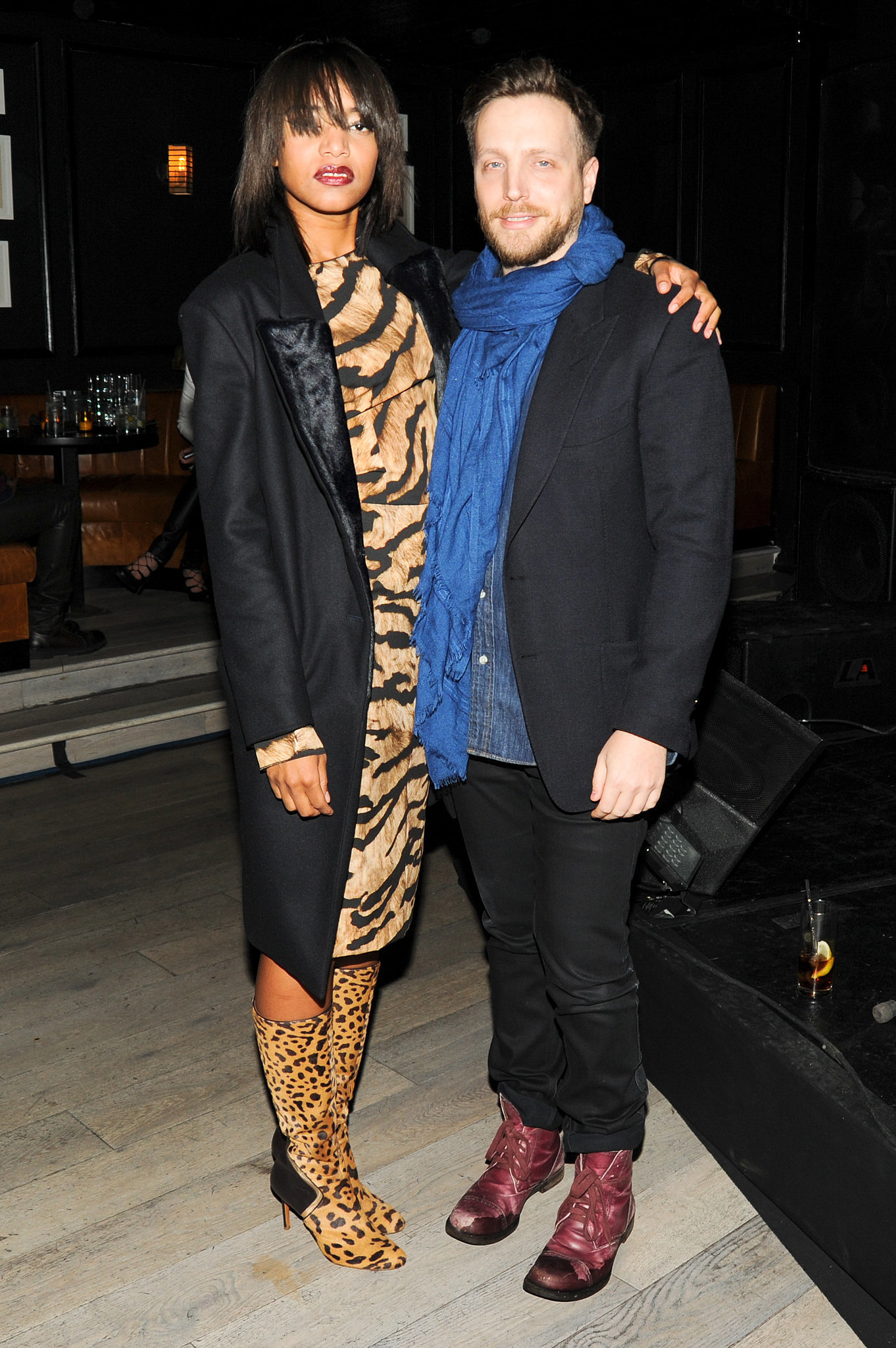 Alice Smith and Ariel Foxman at InStyle's Fashion Week kickoff party.