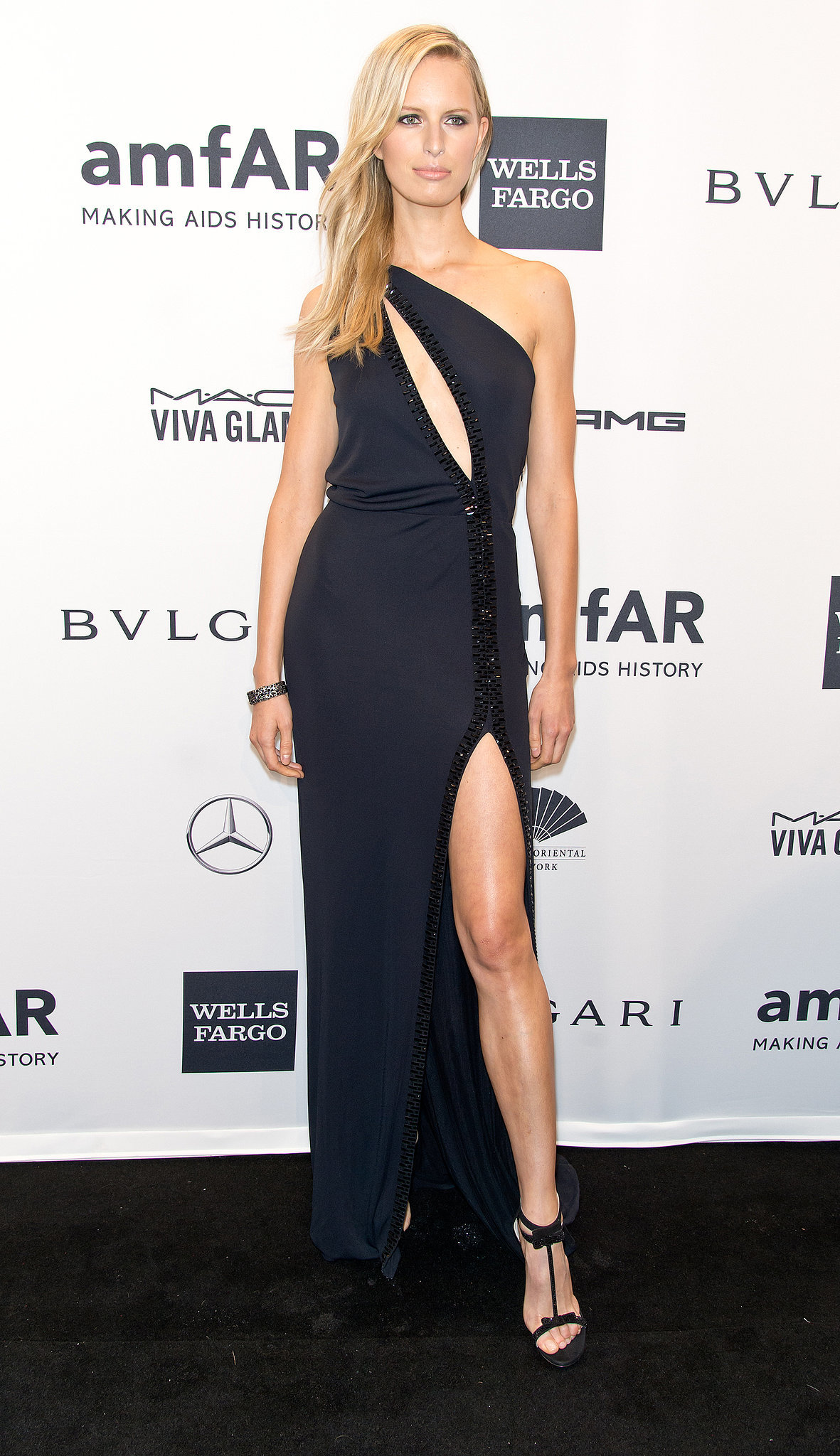 Karolina Kurkova at amfAR's New York Gala.