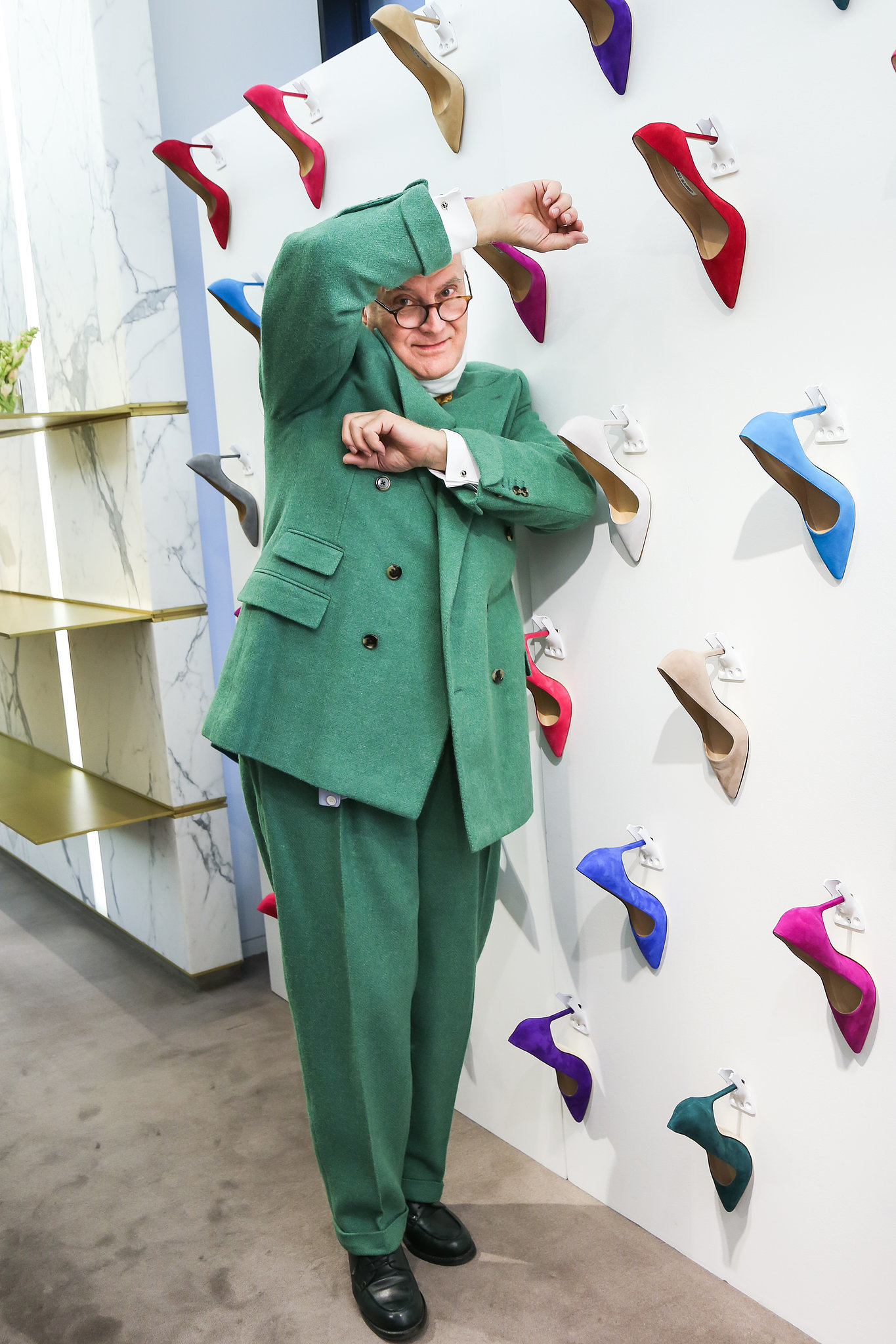 Manolo Blahnik at a meet and greet hosted