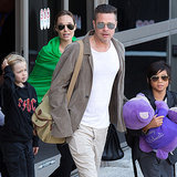 Brad Pitt and Angelina Jolie's Family Back in California