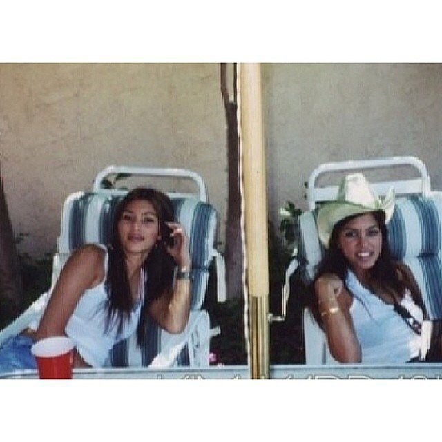 Kim traveled all the way back to 1998 for this photo. Source: Instagram user kimkardashian