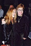 Jen got a hug from Elton John at a pre-Grammys event in February 2000.