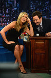 She goofed off with Jimmy Fallon during an appearance on Late Night in August 2013.