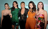 Jen was surrounded by lovely lady friends — Drew Barrymore, Jennifer Connelly, Ginnifer Goodwin, and Scarlett Johansson — at the LA premiere of He's Just Not That Into You in February 2009.