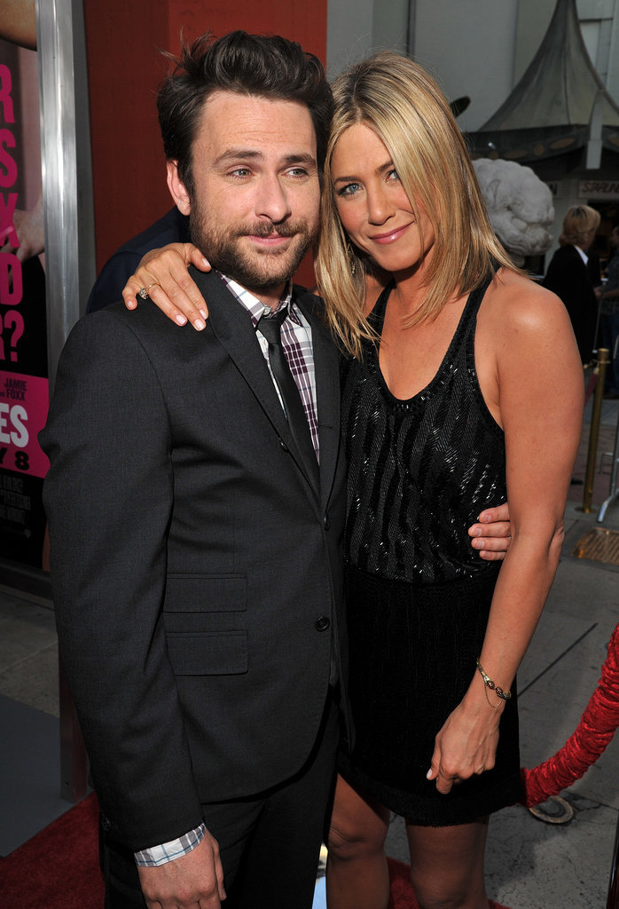 Jen hugged her Horrible Bosses costar Charlie Day during the film's LA premiere in June 2011.