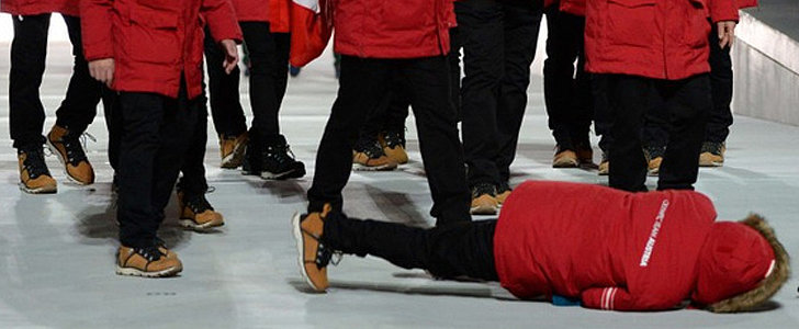 Oops! An Austrian Athlete Fell During the Opening Ceremony