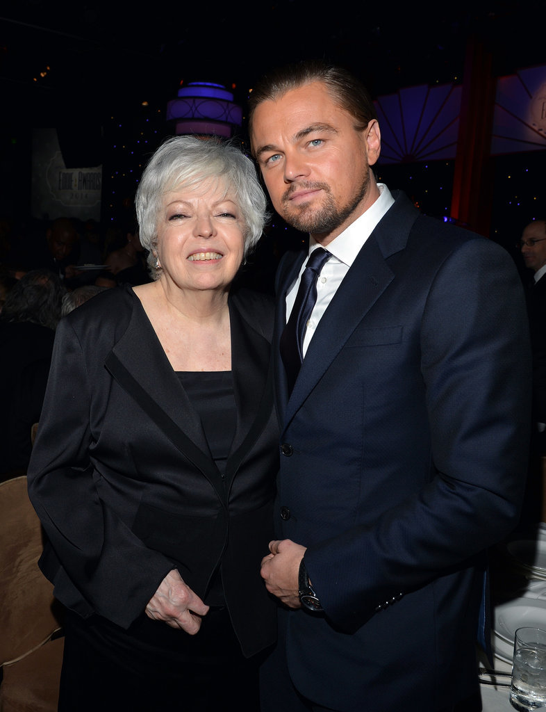 Leo posed for a sweet photo with Thelma Schoonmaker, Martin Scorsese's longtime editor.