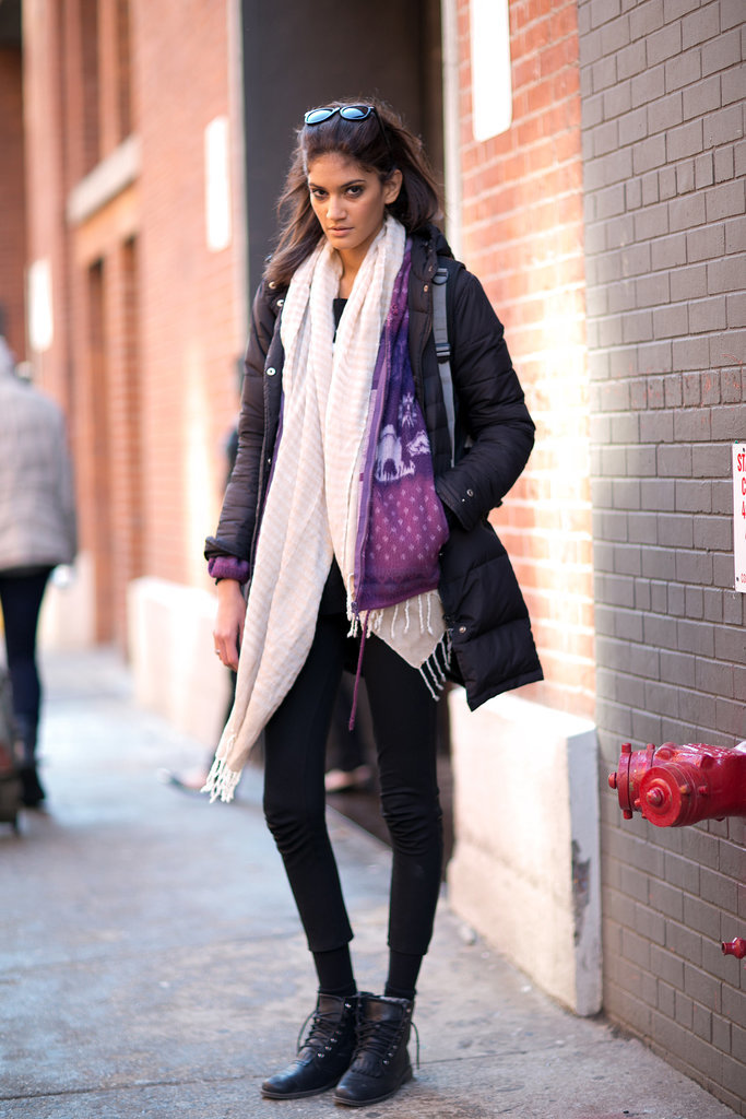 Bundled Up Cool Girl Style The Nyfw Model Moments You Didn 39 T See On The Runway Popsugar