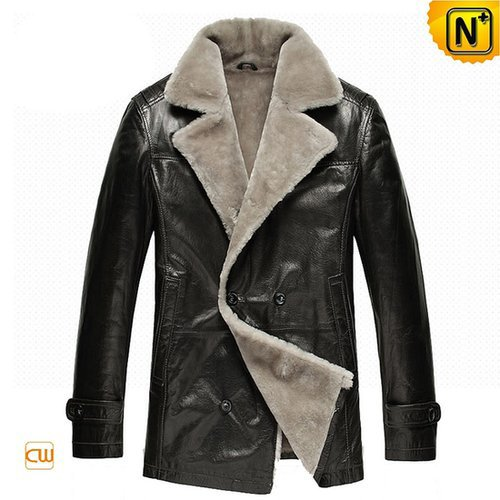 Mens Fur Shearling Sheepskin Coat CW878418