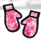 """Stained Glass"" Mittens"