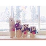 Paper-Roll Snowmen