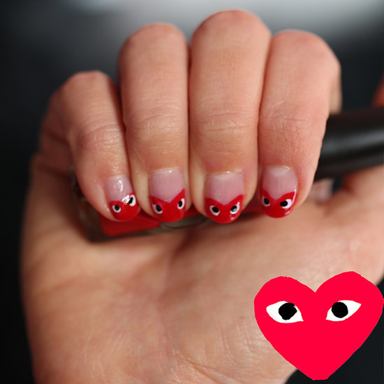 Beauty How To Video: Valentine's Day Comme Des Garcons Nails